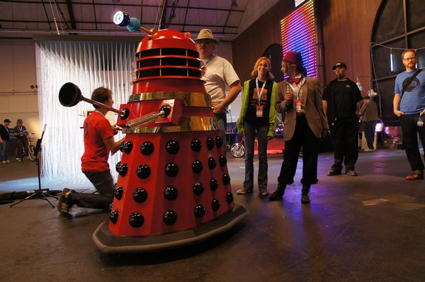 Fredalek, Davros, Amy Pond and The Doctor at Bay Area Maker Faire 2012