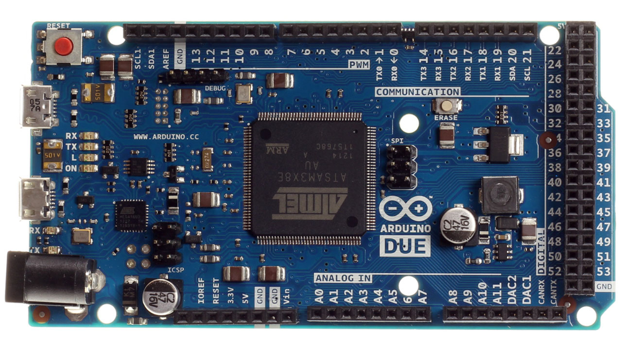 Arduino due makes a high powered leap to new processor