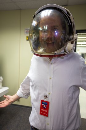 putting on a space suit - photo #16