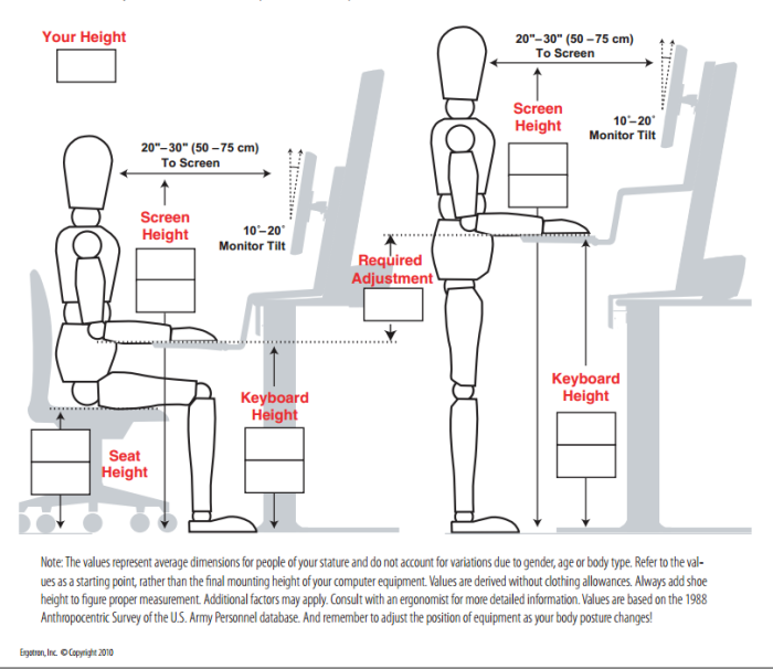 The Gallery For gt Ergonomic Desk Diagram