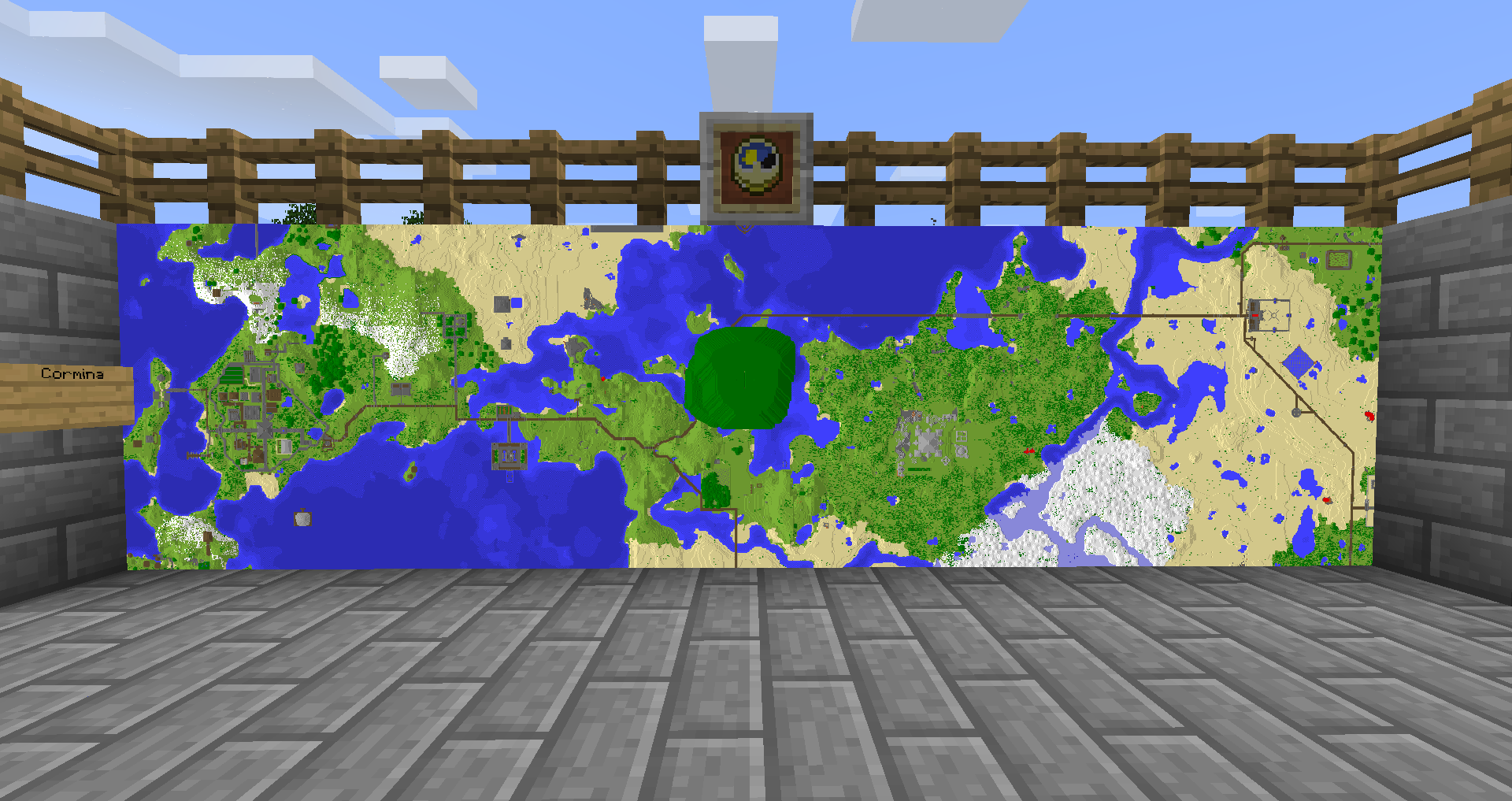 Why is my Map not centred where it was created? - Java Edition ...