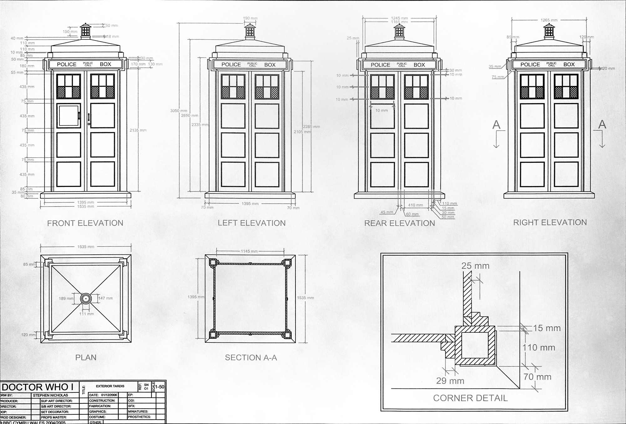 Bits to atoms 3d printing an accurate replica tardis tested for 3d printer blueprints