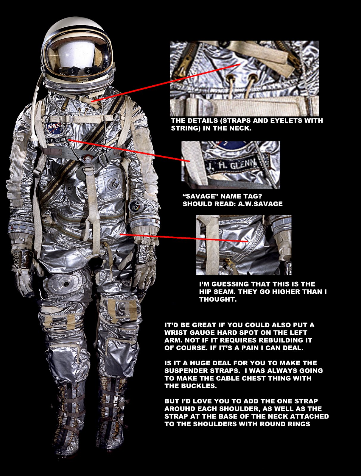 How to make a replica hybrid mercury iv pressure suit tested for Space suit fabric