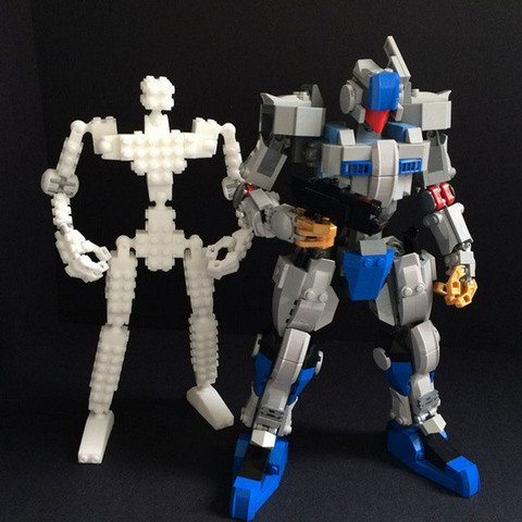 Lego Compatible 3d Printed Robot Frame Tested