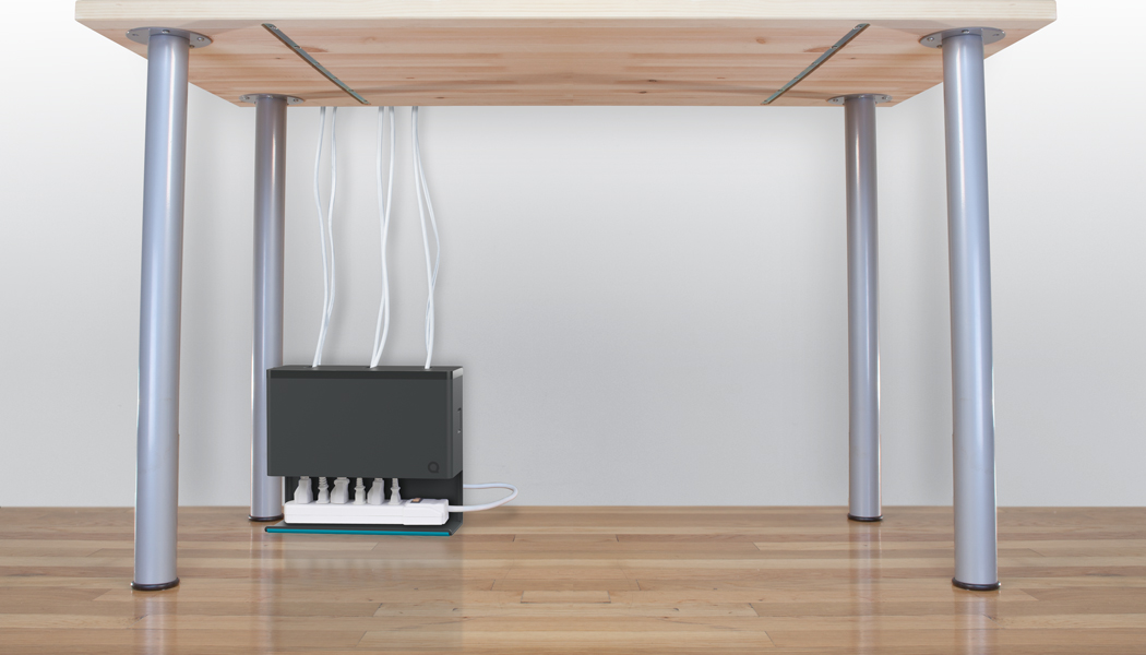 Plug hub simplifies under desk power cable management tested - Desk cord organizer ...